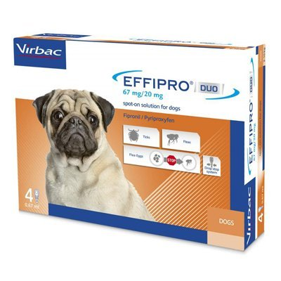 Effipro DUO Flea and Tick Spot-On for Dog Supplies