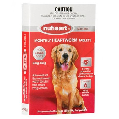 Nuheart - Generic Heartgard Plus Nuheart for Large Dogs 51-100lbs (Red)