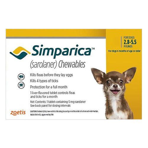 Simparica Chewable Tablet for Dog Supplies