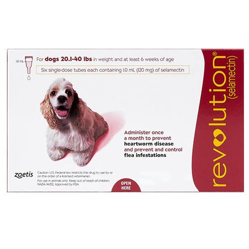 Revolution for Medium Dogs 20.1-40lbs (Red)