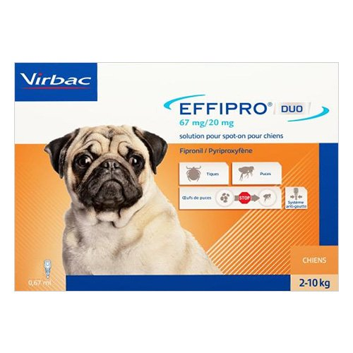 Effipro DUO Flea and Tick Spot-On Small Dogs up to 22 lbs.