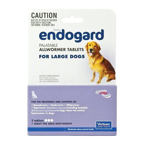 Endogard for Large Dogs 44 lbs (20Kg)