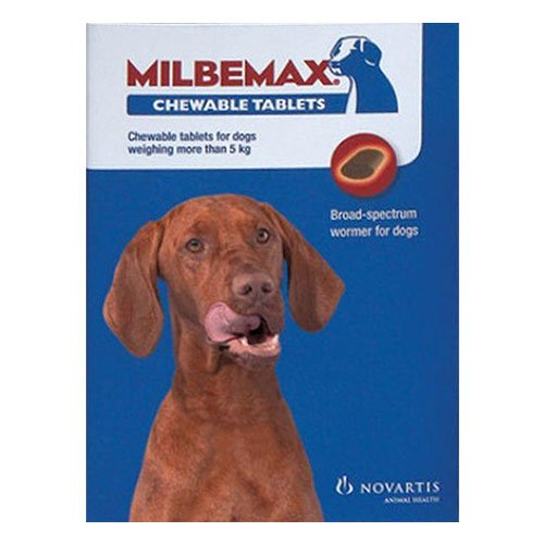 Milbemax Chewable For Large Dogs Over 5 Kgs.