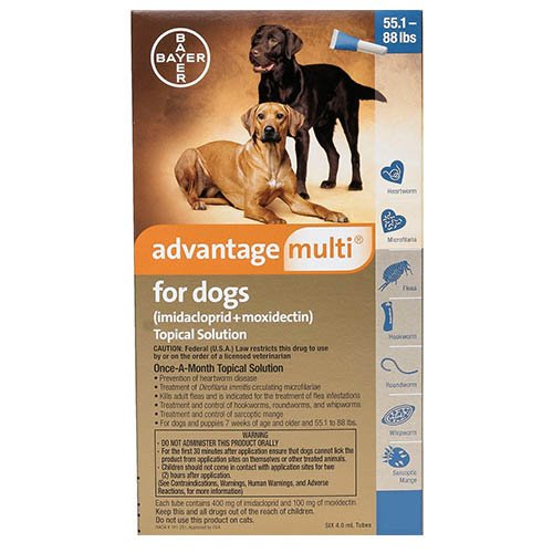 Advantage Multi (Advocate) Extra Large Dogs 55.1-88 lbs (Blue)