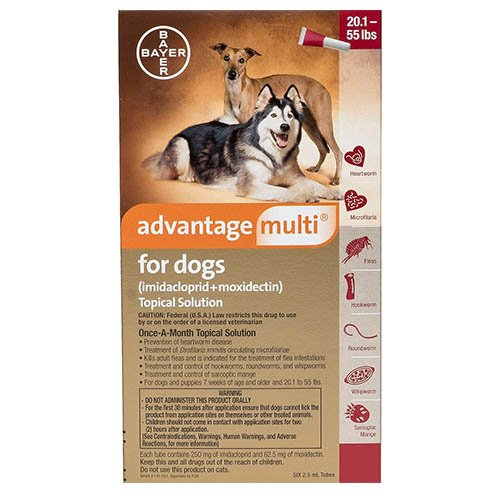 Advantage Multi (Advocate) Large Dogs 20.1-55 lbs (Red)
