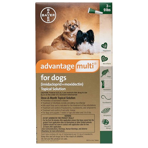 Advantage Multi (Advocate) Small Dogs 3-9 lbs (Green)