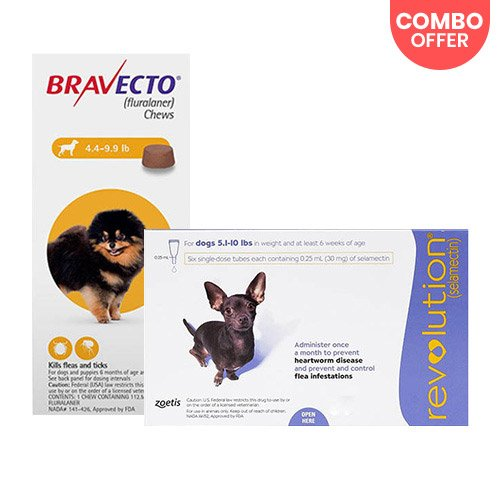 Bravecto + Revolution Combo Pack for Dog Supplies