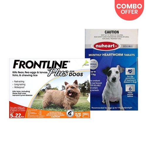 Frontline Plus & Generic Nuheart  Combo  for Dog Supplies
