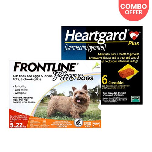 Frontline Plus & Heartgard Plus Combo Pack for Dog Supplies