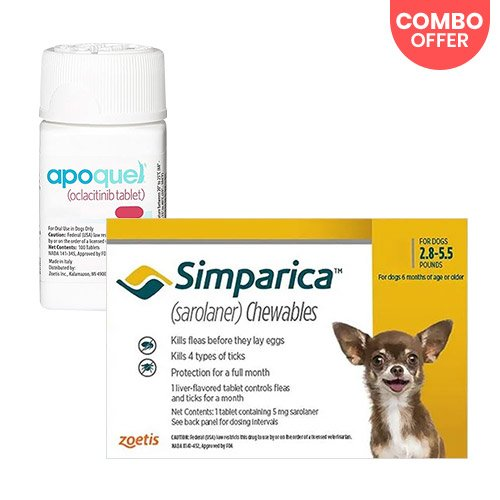 Simparica + Apoquel  Combo Pack for Dog Supplies
