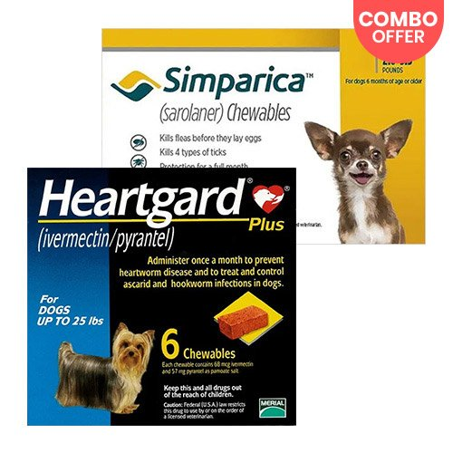 Simparica + Heartgard Plus Combo Pack for Dog Supplies