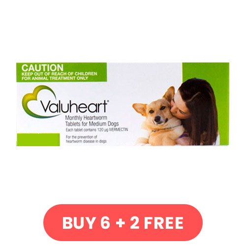 Valuheart For Medium Dogs 23 - 44 lbs (Green)
