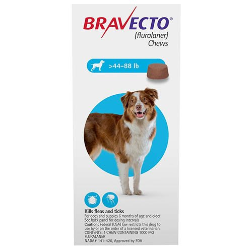 Bravecto for Large Dogs 44-88lbs (Blue)