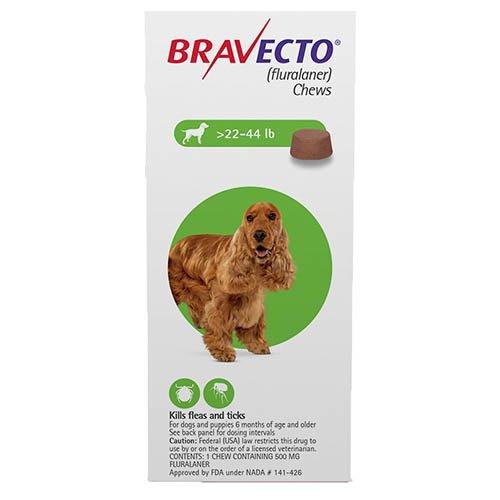 Bravecto for Medium Dogs 22- 44 lbs (Green)