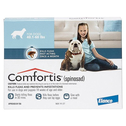 Comfortis Blue For Dogs 18 - 27 kg (40 - 60lbs)