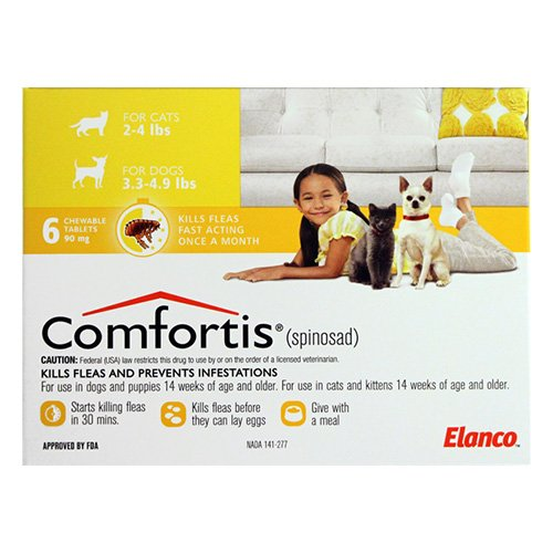 Comfortis For Small Cats 1.4 to 2.7 Kg (3 to 6 lbs) 140mg