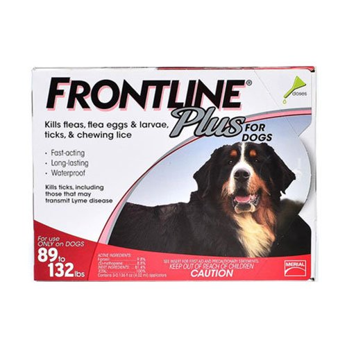 Frontline Plus for Extra Large Dogs over 89 lbs (Red)