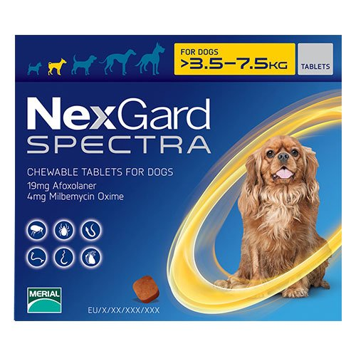 Nexgard Spectra Tab Small Dog 7.7-16.5 lbs Yellow