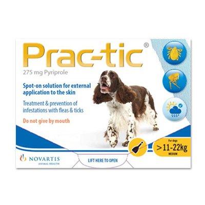 Prac-Tic Spot On (Yellow) forMedium Dog - 25-50 lbs
