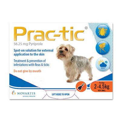 Prac-Tic Spot On (Orange) for Very Small Dog - 4.5-10 lbs
