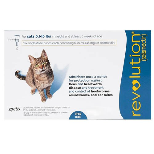 Revolution for Cats 5 -15lbs (Blue)