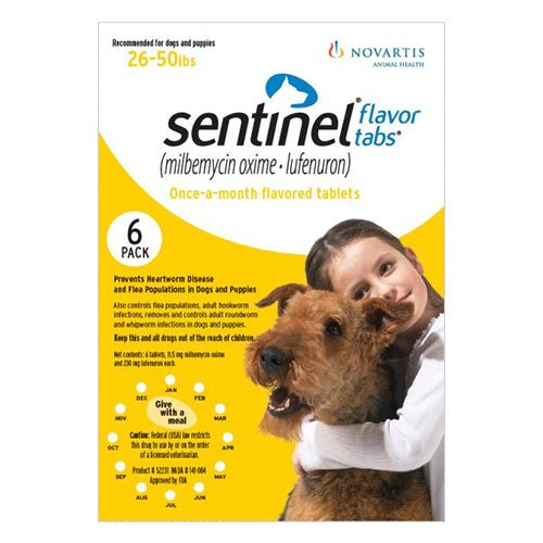 Sentinel For dogs 26-50 lbs (Yellow)